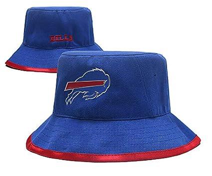 6cb55784f69392 Cotton Headwear NFL Buffalo BillsTeam Pattern Fashion Bucket Hat Fisherman Cap  hat
