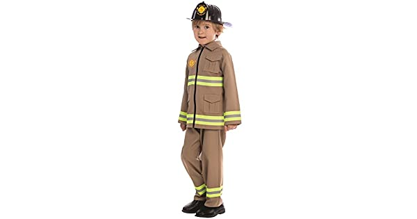 Amazon.com: Kids KJ Bombero Disfraz por Dress Up America ...