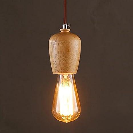 illuminazione Lampadario in legno, lampadario da camera da letto del ...