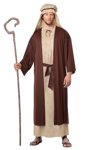 California Costumes Men's Saint Joseph Adult, Tan/Brown, Medium (Christmas Nativity Costumes)