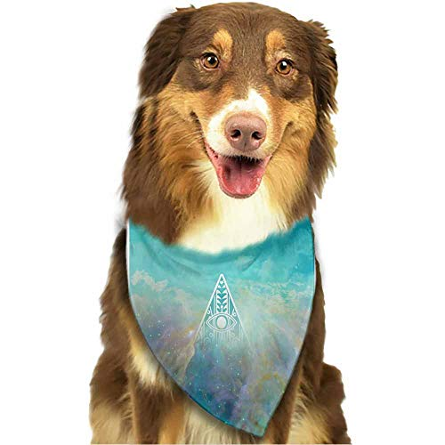(Custom Made Pet Dog Bandana,100% Cotton Bibs Scarf Dog-Eye Triangle Sky Pattern Printing Colorful)