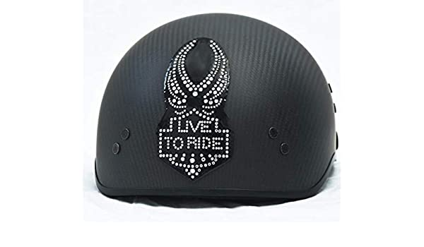 # 1104 Eagle Cascos Rhinestone de Bling adhesivo 3 M Peel Stick Casco Parches H & D Harley Davidson Half Shell Casco Adhesivo Patch: Amazon.es: Juguetes y ...