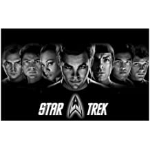 Star TrekMovie 2009 Movie Art Print — Movie Memorabilia — 11x17 Poster, Vibrant Color, Features Chris Pine, Zachary Quinto, Simon Pegg .