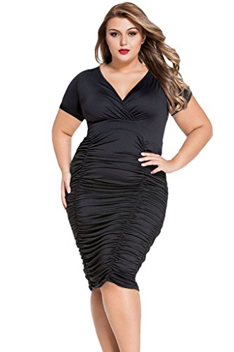 Tiksawon Women Ruched Bodycon Party product image