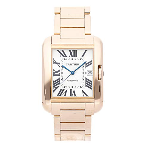 Cartier Tank Anglaise Mechanical (Automatic) Silver Dial Mens Watch W5310002 (Certified Pre-Owned) (Cartier Mechanical Watch)
