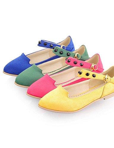PDX/ Damenschuhe - Ballerinas - Outddor / Büro / Kleid - Kunstleder - Flacher Absatz - Komfort / Spitzschuh - Blau / Gelb / Grün / Rosa yellow-us6.5-7 / eu37 / uk4.5-5 / cn37