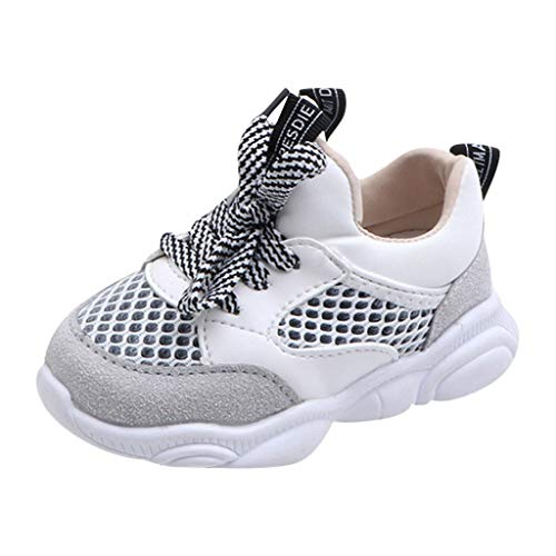 Children Kids Sneaker Mesh Breathable Athletic Running Tennis Shoes for Baby Boys Girls Casual Sport Shoes White