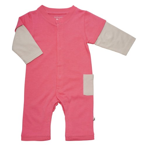 Babysoy Layered One Piece (Baby) - Pink Lemonade-12-18 Months
