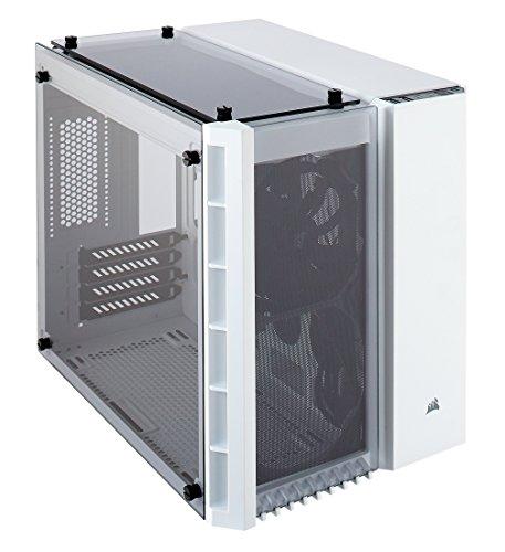 CORSAIR CRYSTAL 280X Micro-ATX Case, Tempered Glass – White – CC-9011136-WW