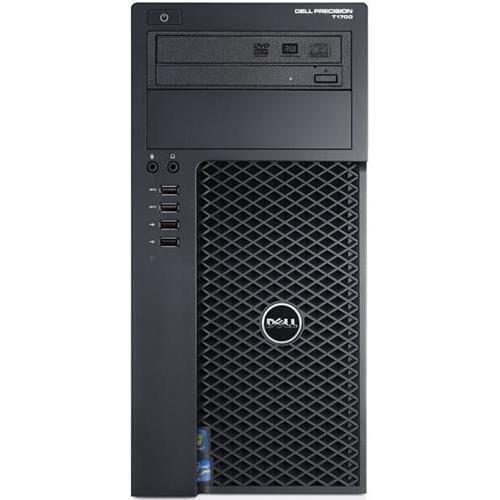 Dell Pret1700-5750blk Precision T1700 Mini-tower Workstation PC, Intel Xeon E3-1241 v3 3.5GHz, 8GB DDR3, 1TB HDD, DVD-Writer, NVIDIA Quadro K420 Graphic, DVI/VGA/USB3.0/DisplayPort, Windows 7 Professional 64bit, Black