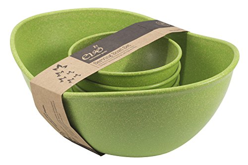Green Oval Serving Bowl - EVO Sustainable Goods Five Piece Serving Bowl Set, Green