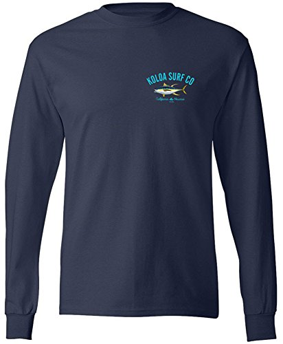 Koloa Surf Yellow Fin Tuna Long Sleeve Shirt-Navy/c-XL