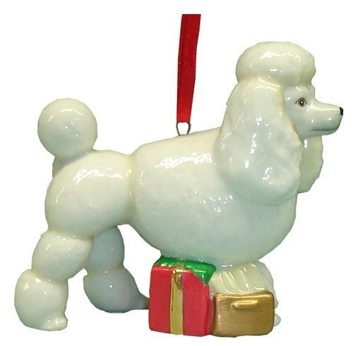 StealStreet SS-D-X041 Cute Christmas Holiday Poodle Dog Ornament Statue Figurine