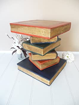 Peachy Medium Bookstack Side Table Bedside Table Painted Finish Download Free Architecture Designs Fluibritishbridgeorg