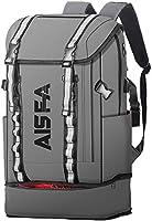 AISFAリュックメンズ リュックサックバックパック スクエア 30L 防水15.6インチ PC ビジネス ラップトップバック USB充電ポート付き アウトドア旅行 通勤 靴/弁当収納