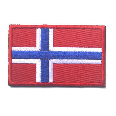 Flag Patch Norway (ShowPlus Norway NO Flag Military Embroidered Tactical Velcro Patch Morale Shoulder Applique)