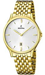 Festina F16746/1 - Men's Watch, Stainless Steel placcato, color: oro
