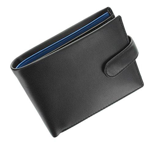 Two Fold VINCENT Black Cobalt Leather Collection Visconti PM100 Parma Bi Tone Wallet Blue Mustard Gents qUAt4gw4F