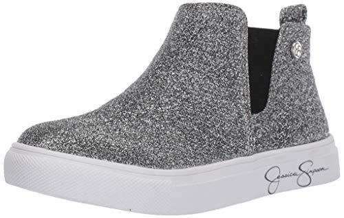 Jessica Simpson Girls' Falco Sneaker, Pewter, 11.5 M US Toddler