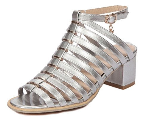 Mules Mules Femme Femme HiTime HiTime Silver n1wzq0A5T