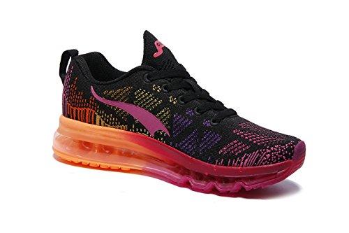 Azul para Montaña Correr Padel para Onemix Deportes Aire Air Negro Zapatos Running Asfalto rosa y en Mujer Libre Zapatillas y negro de nAnaU