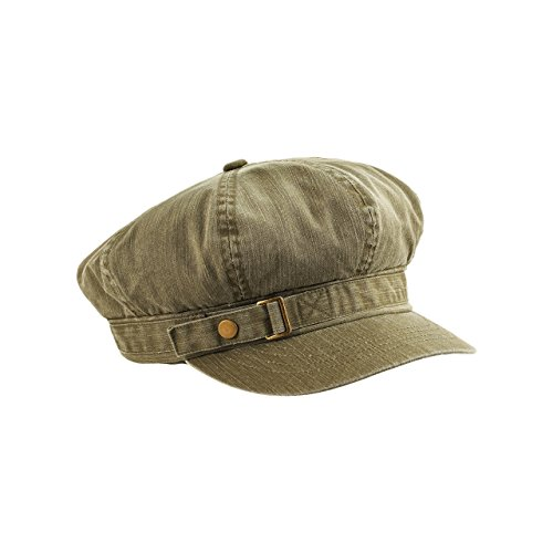 Pigment Dyed Newsboy Cap - MG Unisex Pigment Dyed Special Cotton Washed Newsboy Cap-2126-OLIVE