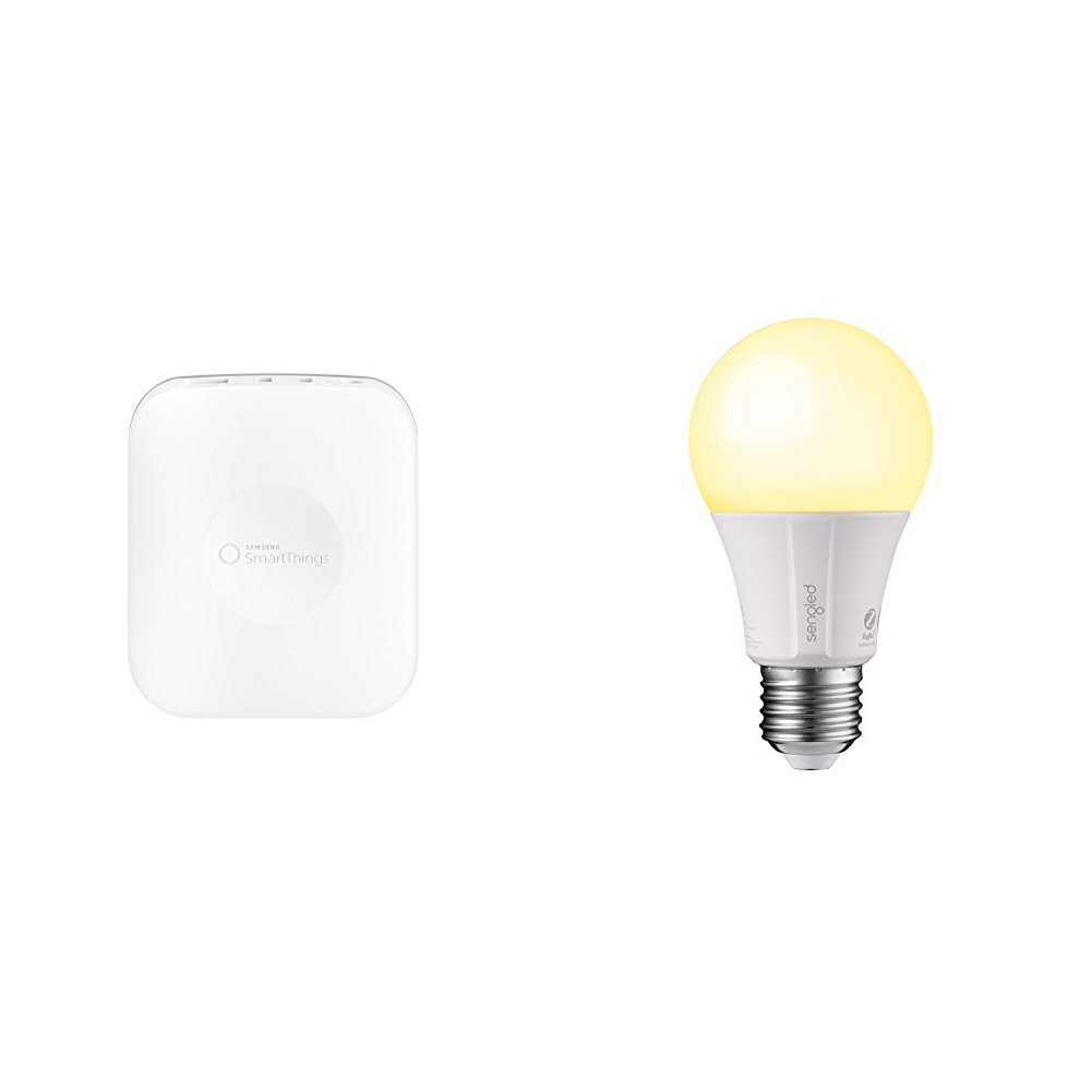 Samsung SmartThings Smart Home Hub and 2 Sengled Smart Bulbs