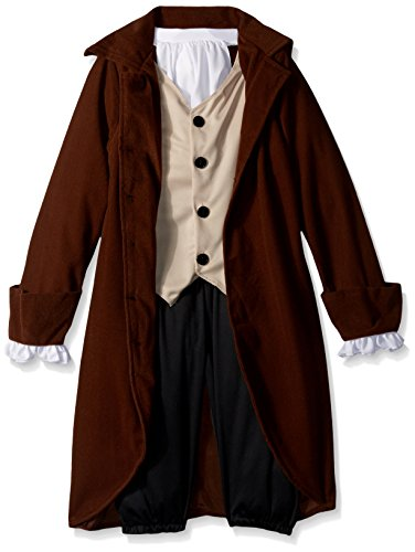 California Costumes Colonial Man/Benjamin Franklin Child Costume, Medium (Colonial Day Costumes)