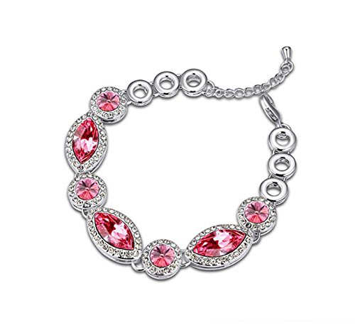 Cara Swarovski Elements Crystal Bracelet Swarovski Bracelets Jewelry Bangle for Valentine's Day Girlfriend Bracelet Pink
