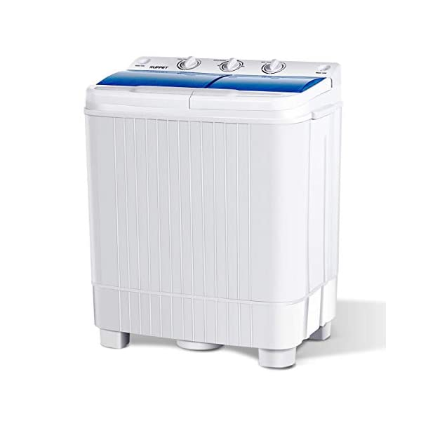 KUPPET Portable Washing Machine, 17lbs Compact Twin Tub Washer and Spin Dryer Combo...