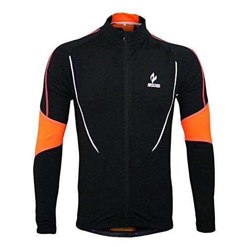 docooler Winter Warm Fleece Running Fitness Excercise Cycling Bike Bicycle Outdoor Sports Clothing Jacket Wear Wind Coat Long Sleeve Jersey (Black, L)
