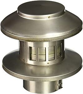 Noritz Rc3 3 Inch Diameter Rain Cap Stainless Steel Single