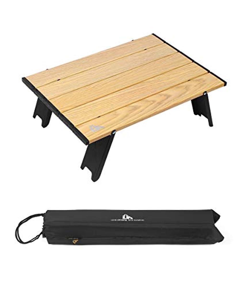 [해외] ICLIMB 접이식 테이블 캠프 테이블 아웃도어 테이블 롤 테이블 41×28.5×12.5CM / 56×41×12.5CM 콤팩트 알루미늄제 경량 【내하중30KG】 미니 테이블 캠프 용품 내열방 산화 처리 광택을 없앰 수납 봉투 첨부 2사이즈