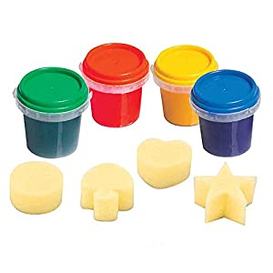 Imaginarium Finger Paint 4 Pack with 4 Sponges