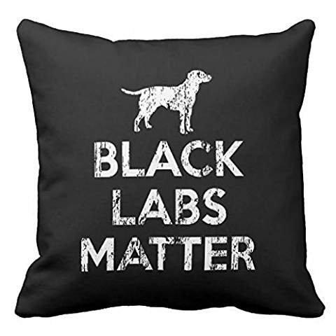 Black Labs Matter Throw pillow case (Black Lab Throw)