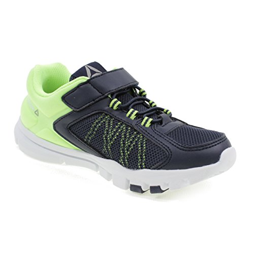 Reebok Zapatos Deportivos con Velcro Yourflex Train 9.0 Kids CN2957 Azul/Verde Azul (Collegiate Navy / Electric Flash / Pewter 000)