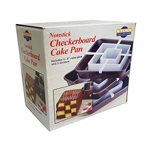 Kitchen Collection Nonstick Checkerboard Cake Pan Set Square]()