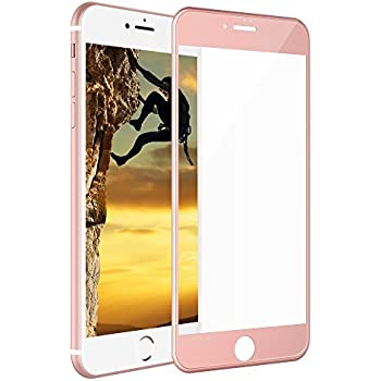 iphone 8 gold. iphone 8 plus 7 screen protector, iorange-e 3d curved full glass coverage iphone gold