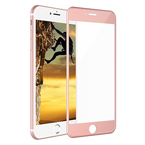 iPhone 8 Plus 7 Plus Screen Protector, iOrange-E 3D Curved Full Glass Coverage Tempered Glass Screen Protector for Apple iPhone 8 Plus 7 Plus 5.5 Inch, Rose Gold