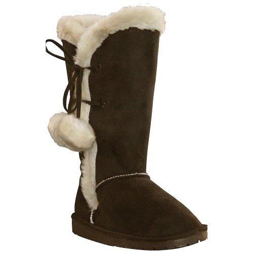 Microfiber DAWGS Tie Women's Boots Side inch Chocolate 13 6B1tOBqa