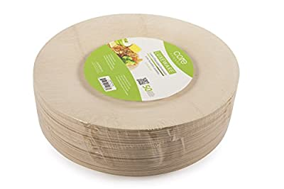 Core Bamboo Luxeware Disposable Plates Pack of 50