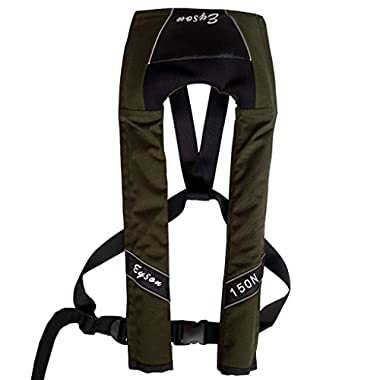 Green House-Manual Inflatable Life Jacket /Vest with 150N Buoyancy Olive