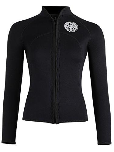 0ec50c587f Two Bare Feet Womens Heritage 3mm Full Zip Long Sleeve Wetsuit Jacket  Watersports Top