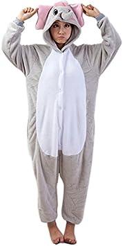 LIHAO Pijama Disfraz de Elefante Gris para Adulto Unisex, Cosplay ...