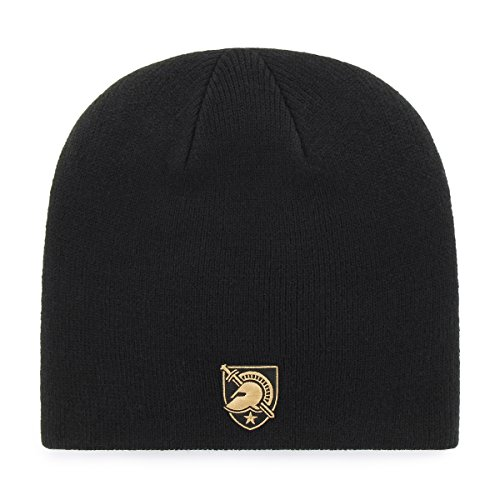 OTS NCAA Army Black Knights Beanie Knit Cap, Black, One Size (Army Black Knit Cap)