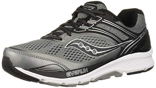 Saucony Men's Echelon 7 Running Shoe, Grey | Black, 11.5 M US
