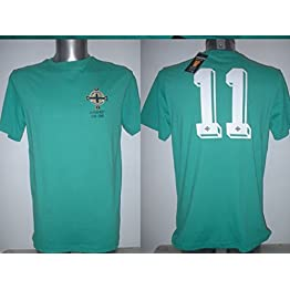Toffs Northern Ireland George Best Retro T-Shirt Maillot BNWT Adultes Medium Football Pull Maglia Manchester United New