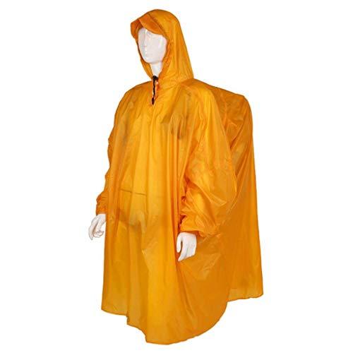 Raincoat- Outdoor Raincoat Siamese Backpack Men and Women Poncho Hiking Walking Photography Equipment Super Light Good Belt, Rain Strong (Color : Orange, Size : One Size)
