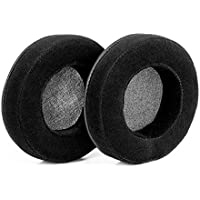 BRAINWAVZ XL Large Velour Replacement Memory Foam Earpads - Suitable For Many Other Large Over The Ear Headphones - Sennheiser, AKG, HifiMan, ATH, Philips, Fostex, Sony