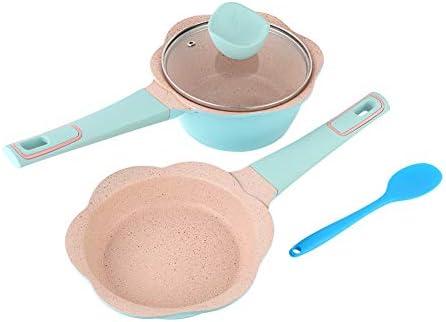 Marmite de cuisine bleue, marmite de cuisson multifonction antiadhésive pour bébé